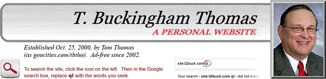 T. Buckingham Thomas: a personal website