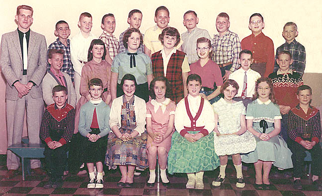 Sixth grade, Richwood, Ohio, 1958